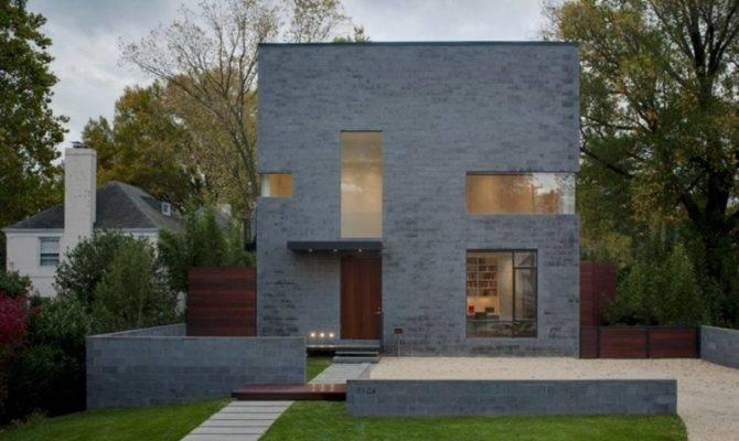 Minimal Urban House Cube Shape Design Hampden Lane