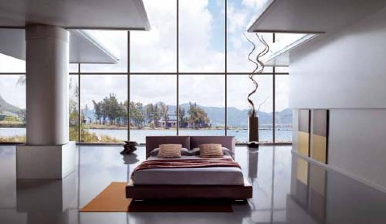 Minimalist Bedroom Large Gl Window