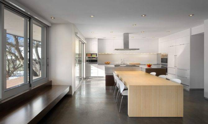 Minimalist Modern Home Colorful Open