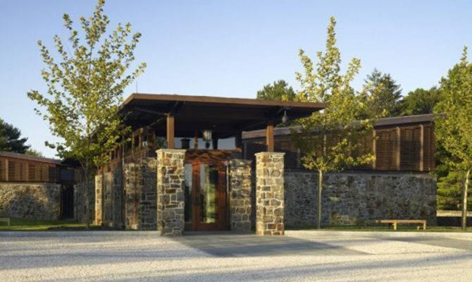 Minimalist Wooden Stone Home Designs Clean Exterior Plans