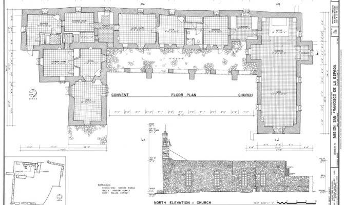 Mission Espada Convento Church Floor Plan Clippix