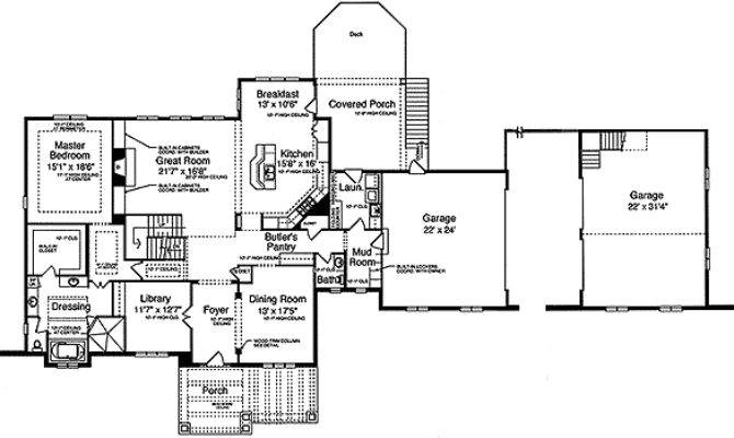 Mission Style Home Plan Floor Master Suite
