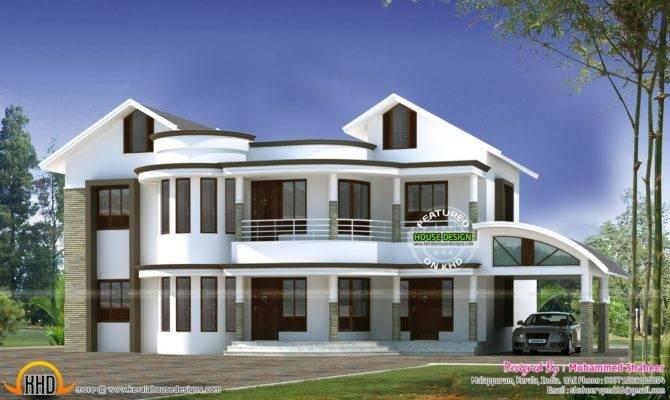 Mixed Roof Modern Home Kerala Design
