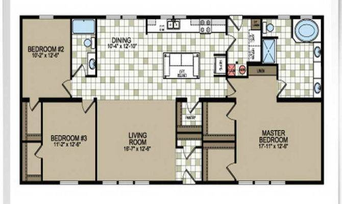Mobile Home Floor Plans Double Wide Spaces