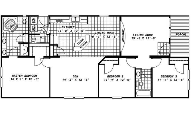 Mobile Home Floor Plans Porch Homes Ideas
