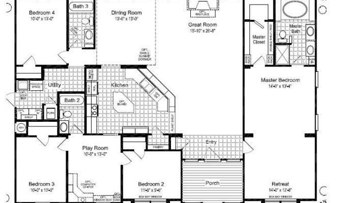 Mobile Home Floor Plans Triple Wide Homes