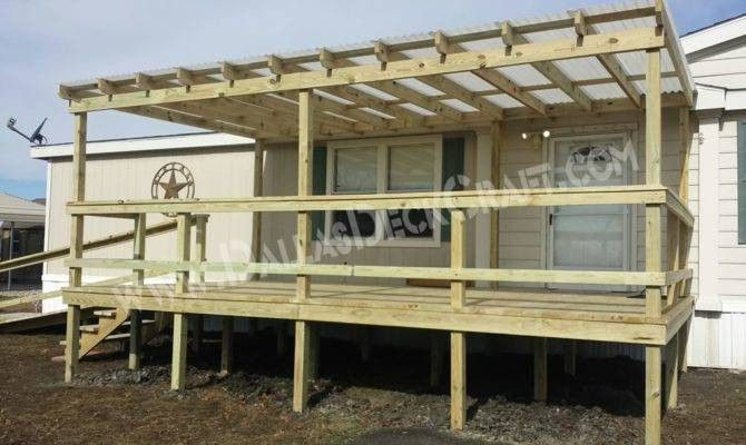 Mobile Home Porches Top Manufactured Deck Designs