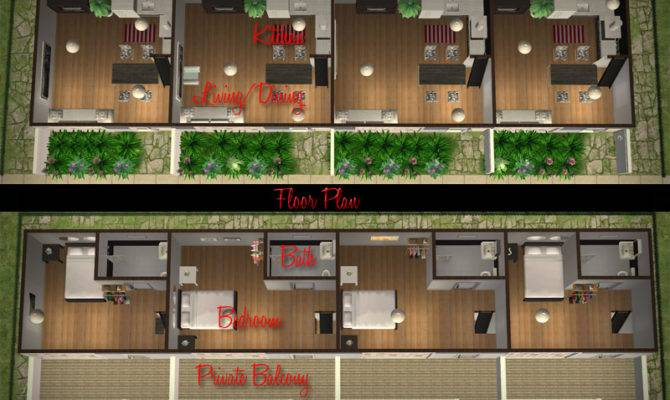 Mod Sims Affordable Modern Apartment Row Low Rent