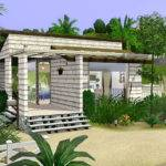Mod Sims Beach Cabin Small House Single Sim