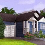 Mod Sims Blue Starter Home Fully Furnished Garage Below