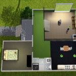 Mod Sims Colourful Split Level Starter Home