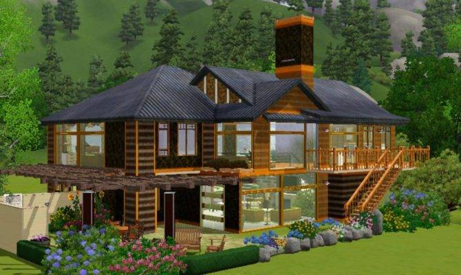 Mod Sims Contemporary Split Level Home