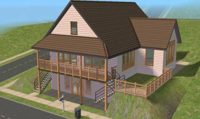 Mod Sims Daylight Basement Cottage