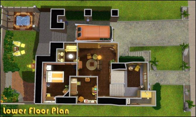 Mod Sims Retro Realty Modern Home
