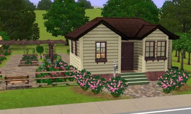Mod Sims Small Farm House Huge Harvestable Garden Under