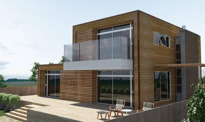 Model Modern Wooden Minimalist Home