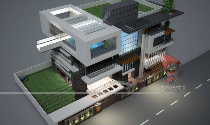 Modeling Architecture Animation Ultra Modern House Plans Designs