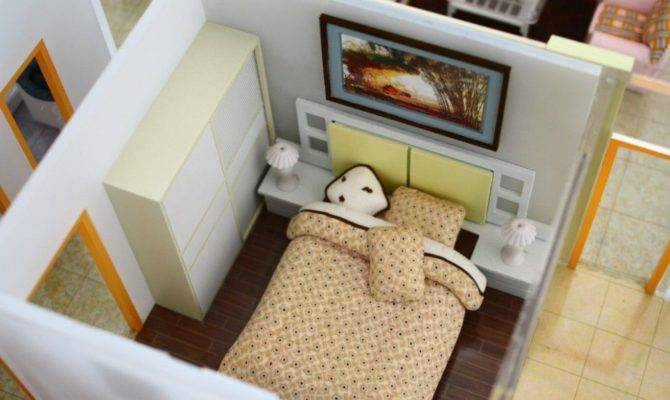 Models House Interior Bedroom Miniature Architectural
