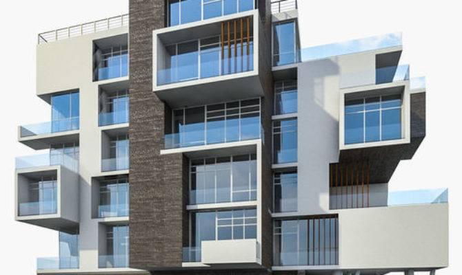 Modern Apartment Building Model Cgtrader