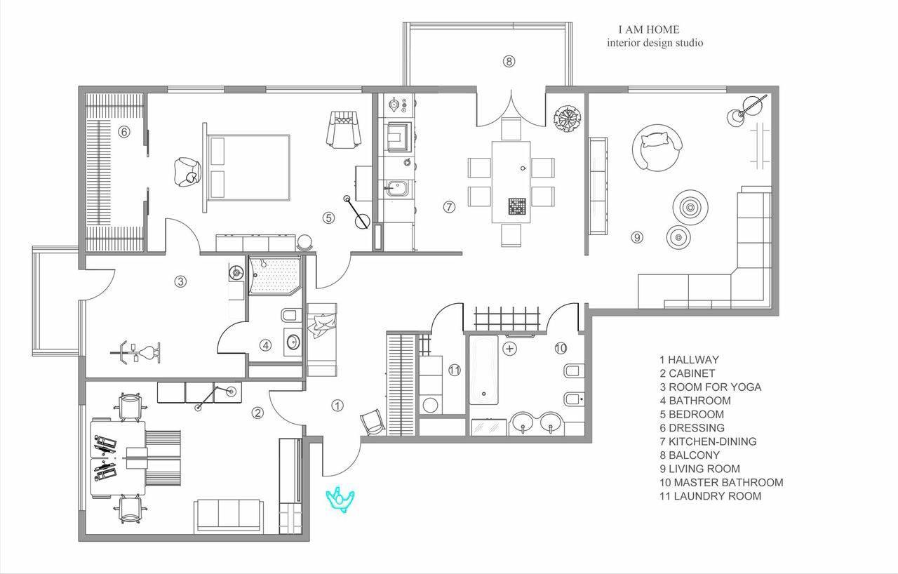 Modern Apartment Floorplan Interior Design Ideas Home Plans Blueprints 6824