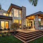 Modern Backyard Terrace Contemporary Style Home Burlingame
