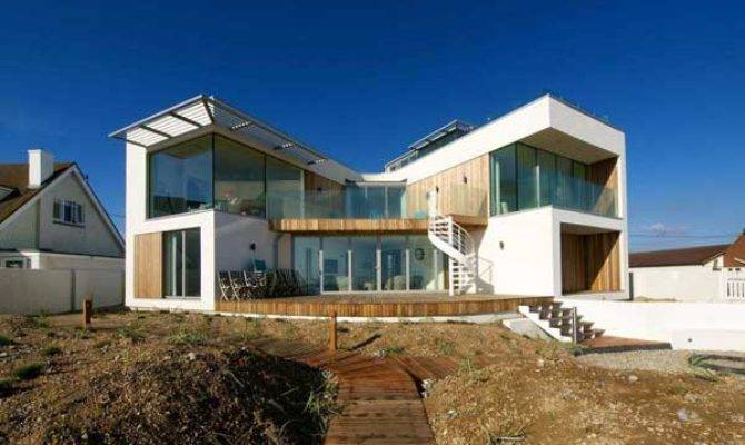 Modern Beach House East Sussex Glass Timber
