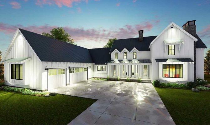 Modern Bedroom Farmhouse Plan Architectural