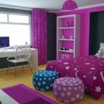 Modern Bedroom Two Flat Violet Decoration