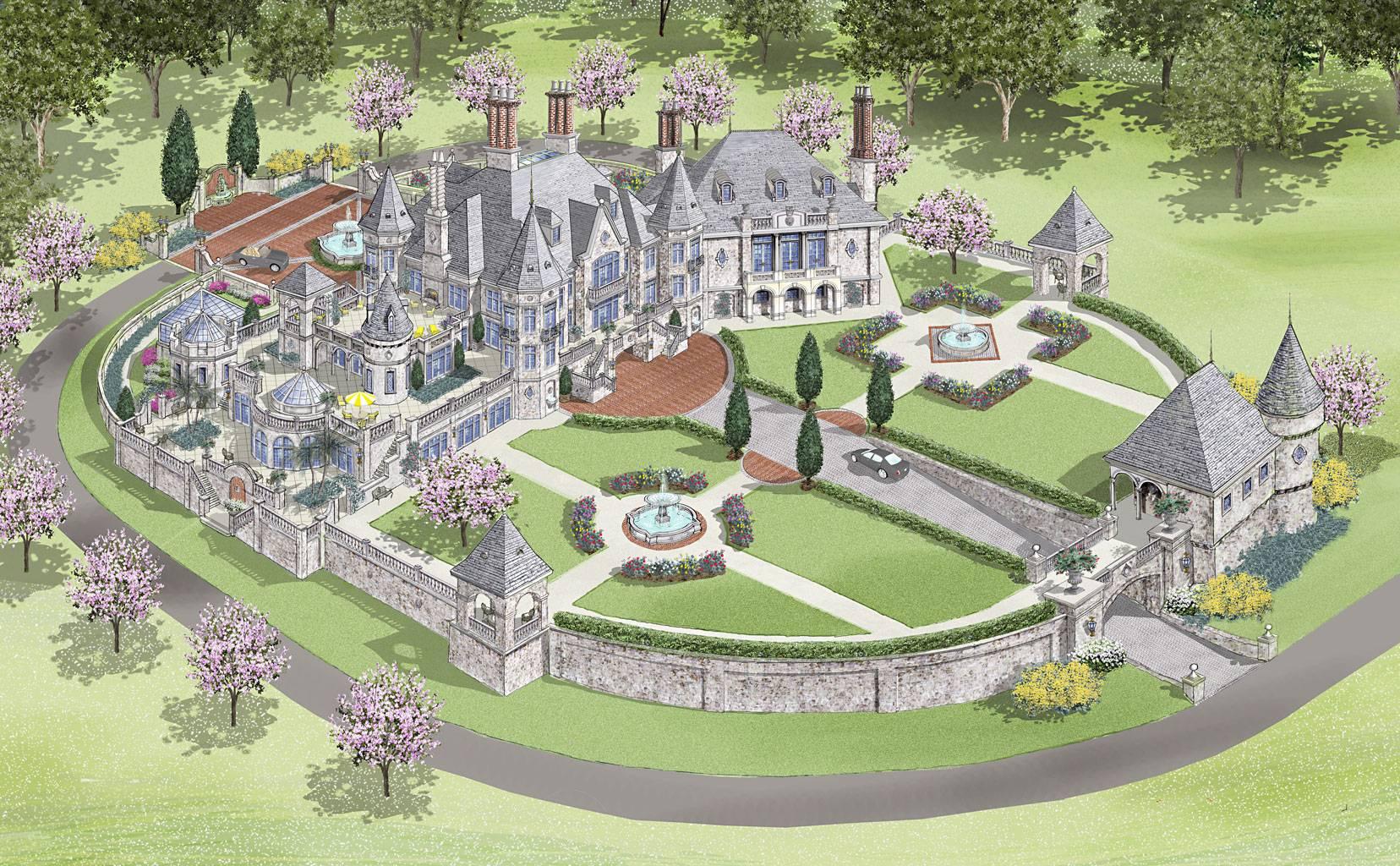 Modern Castle Home Showcase Luxurous European Style