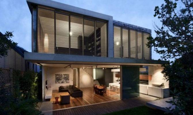 Modern Concrete Structures House Design Sydney Australia Iroonie