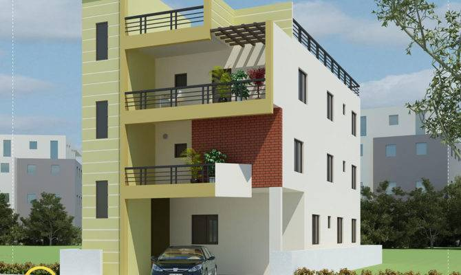 Modern Contemporary Home Elevations Aksatech Solutions Bangalore