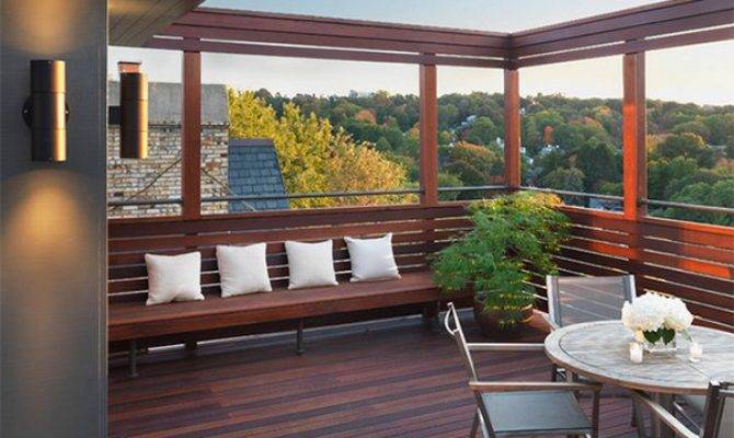 Modern Contemporary Rooftop Terrace Designs Home