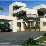 Modern Contemporary Style Home Exterior Kerala Design Floor