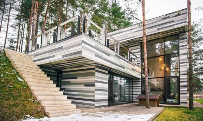 Modern Country House Plans Break Visual Monotony Lithuania