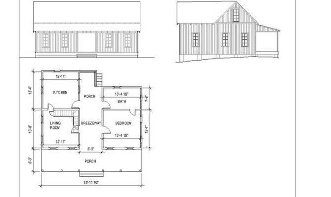 Modern Dogtrot Cottage House Plans