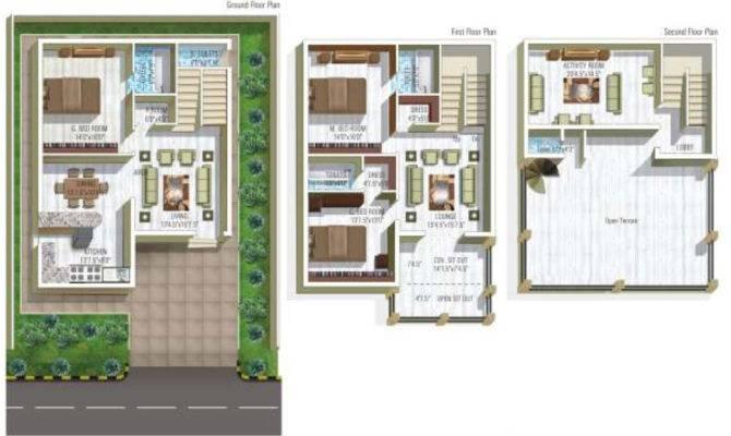 Modern Duplex Apartments Plan