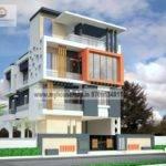 Modern Elevation Design Residential Buildings Front