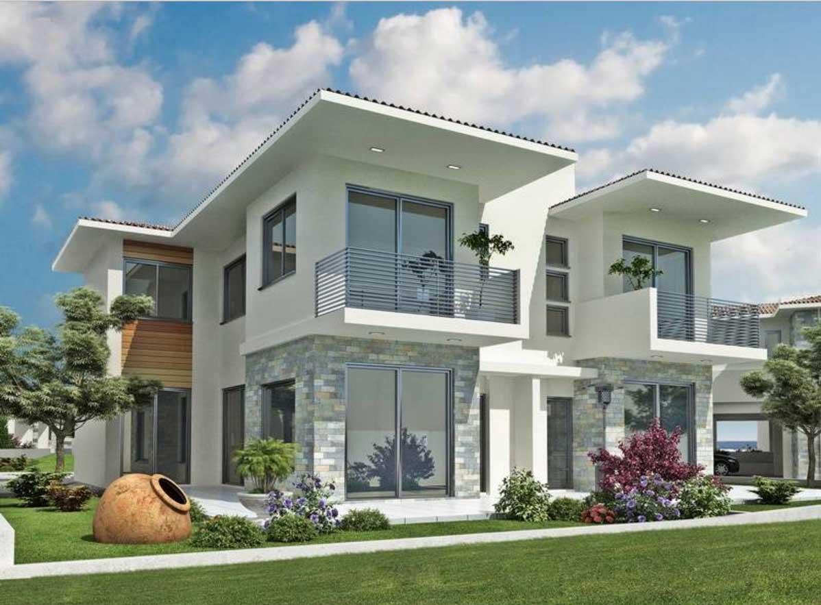 Modern Exterior Home Designs White Paint Color Home Plans Blueprints 149708