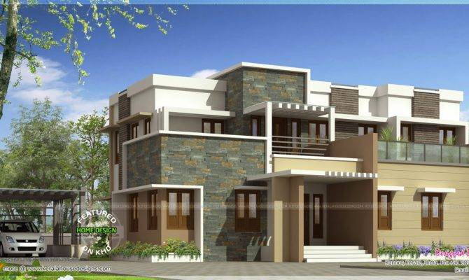 Modern Flat Roof House Bhk Kerala Home Design Floor Plans Home Plans Blueprints 17218