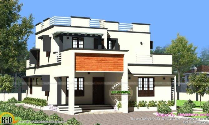 Modern Flat Roof House Kerala Home Design