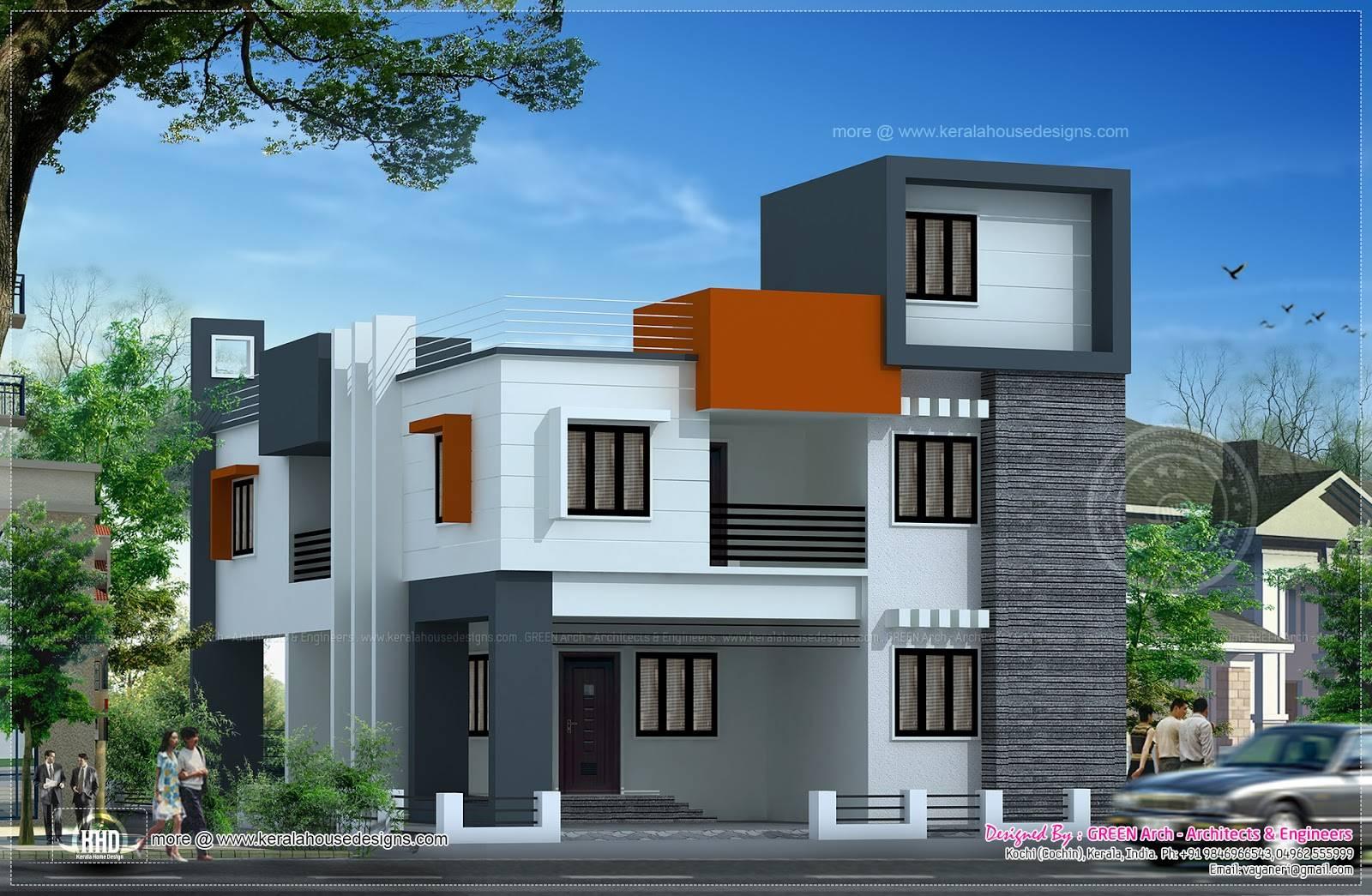 Modern Flat Roof House Square Meter Kerala Home Design Home Plans Blueprints 17204