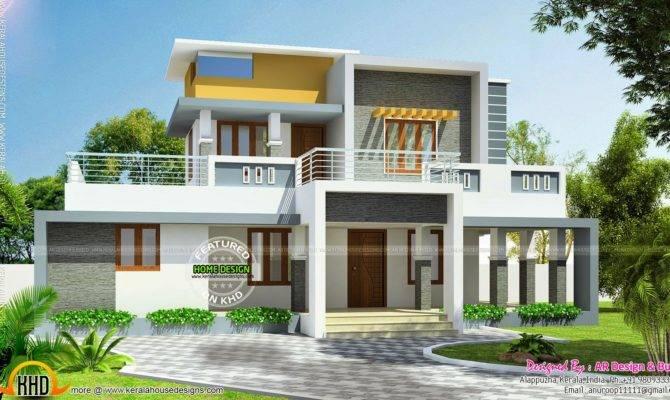 Modern Flat Roof House Square Yards Kerala Home Design Home Plans Blueprints 17217