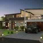 Modern Form House Front Elevation