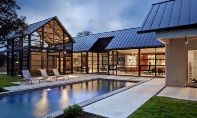 Modern Glass House Exterior Designs Style Motivation