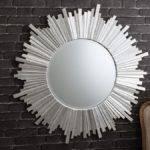 Modern Heyworth Wall Mirror Curved Angled Mirrored Frame