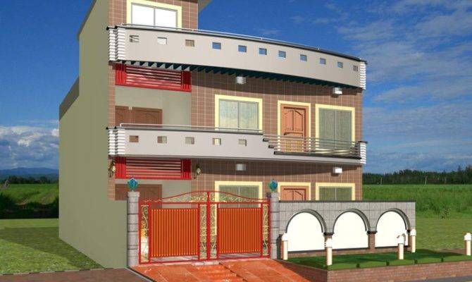 Modern Homes Exterior Designs Front Views Building Plans