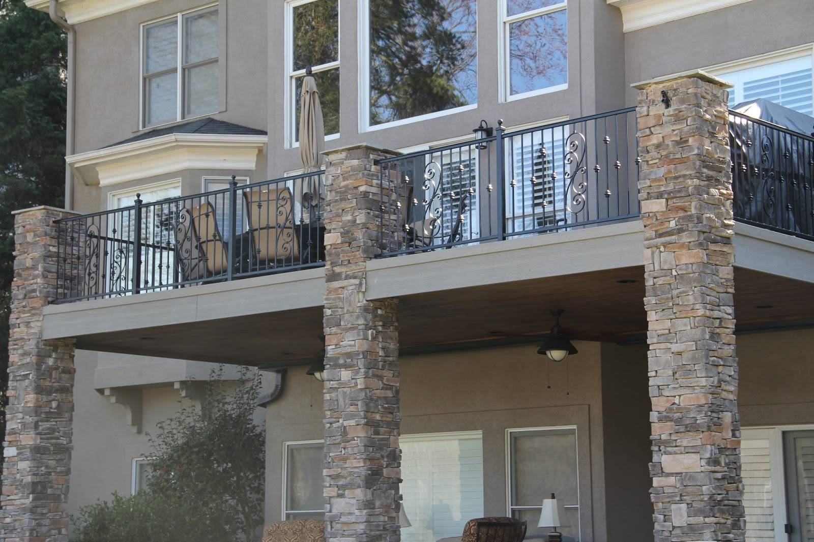 Modern Homes Wrought Iron Balcony Railing Designs Ideas
