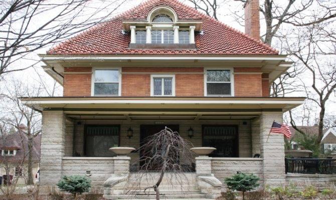 Modern House Architecture Styles American Foursquare Porch