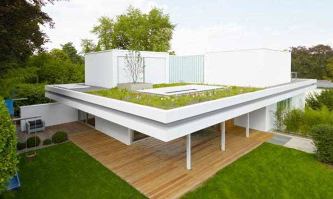 Modern House Design Roof Garden Olpos