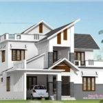 Modern House Elevation Feet Kerala Home Design Floor